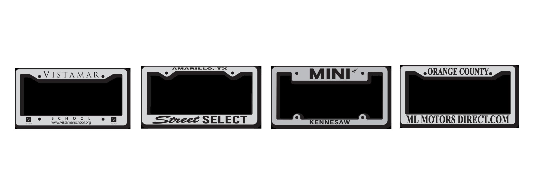 Chrome Plated Metal License Plate Frames Raised Letter (MFR) | MSL ...